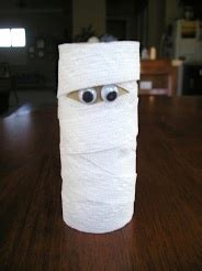 Mummy Toilet Paper Roll Craft - favors and crafts things to make