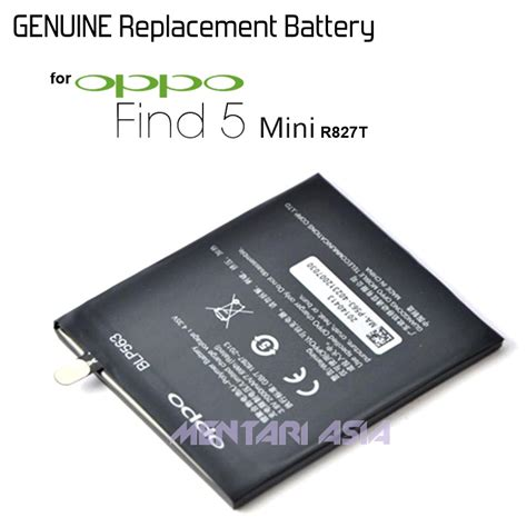 Baterry Baterai Oppo Find 7 Original jual battery oppo find 5 mini blp563 2000mah genuine