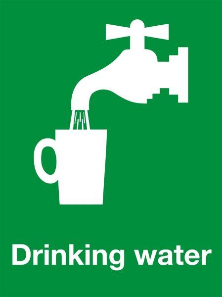 drinking water warning safety sign camlab uk