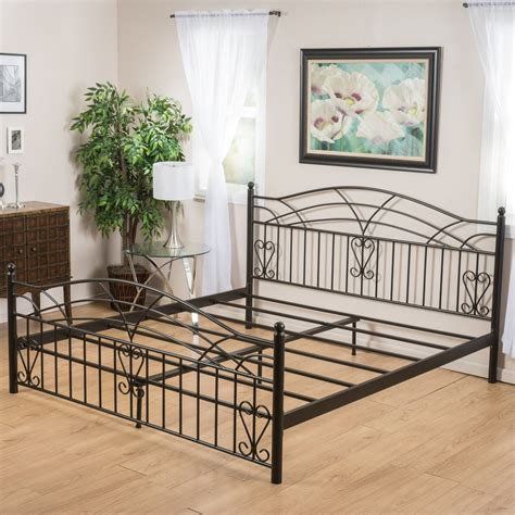 iron bed frames king edsel cal king size black finish iron bed frame great