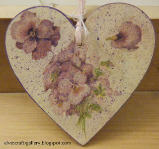 decoupage hearts elves crafts gallery s day wooden