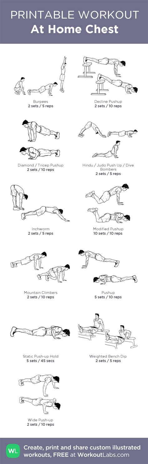 25 best ideas about home chest workout on