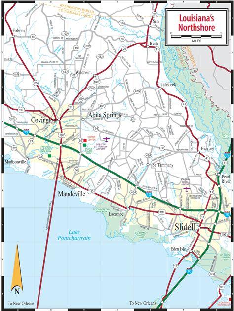 printable louisiana road map louisiana northshore map