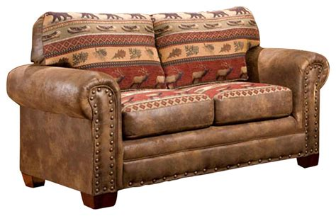 lodge loveseat southwestern loveseats by