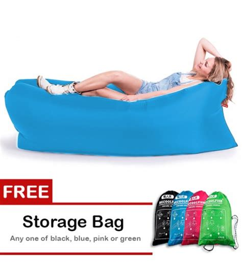 becoolfish portable hangout lazy bed air filling seat for