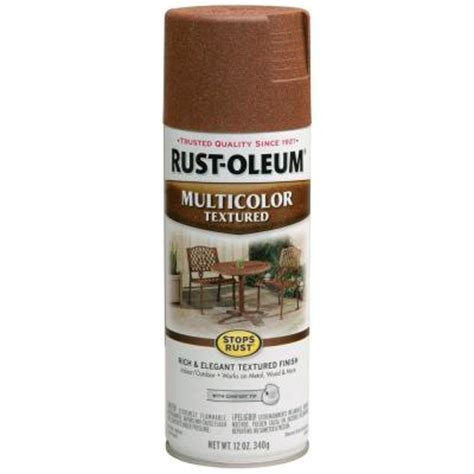 rust oleum stops rust 12 oz protective enamel rustic umber multi colored textured spray paint