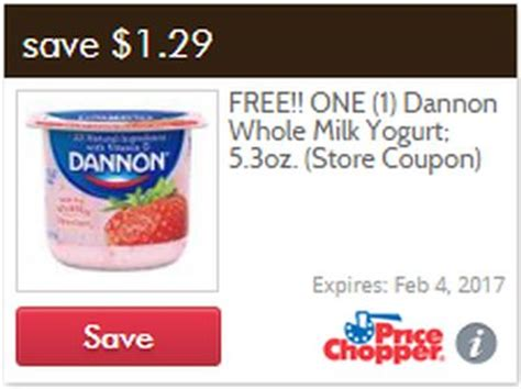 free printable grocery coupons price chopper price chopper coupon for one free dannon whole milk yogurt