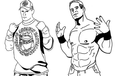 Wwe Coloring Pages Bestofcoloring Com Cena Coloring Pages