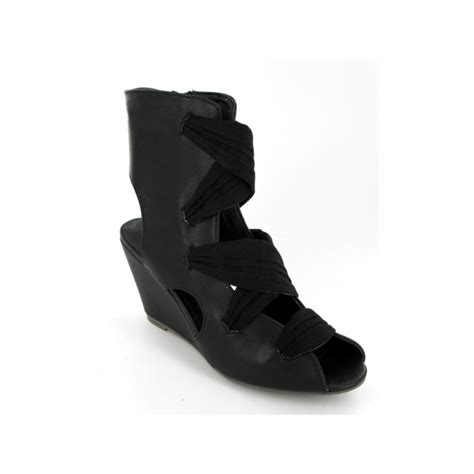 Rarkr 043 Sandal Gladiator Heel Wanita R A womens wedge heel open peep toe gladiator strappy ankle boots shoes black ebay
