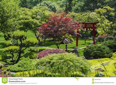 japanese garden stock photography image 32241262