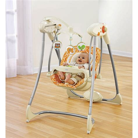 baby swings and gliders fisher price swing n glider dreamsicle walmart com