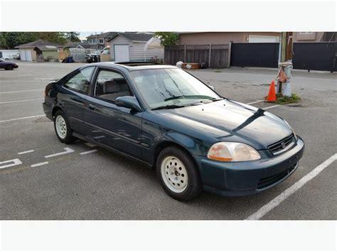 1997 Honda Civic SI Coupe Green Auto Vancouver City, Vancouver