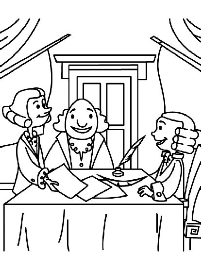 crayola coloring pages 4th of july signing for independence coloring page crayola com