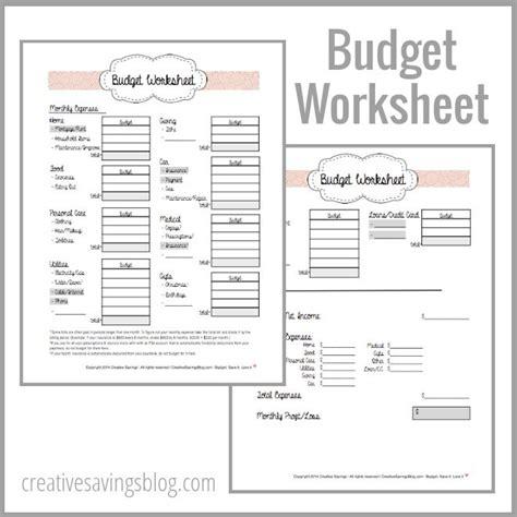 building   budget  printable worksheets