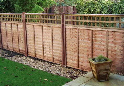 Fencing Trellis larch fencing panels