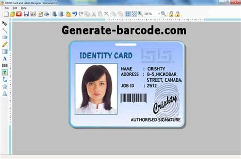 id layout maker free download download free id card maker by generate barcode v 8 2 0 1