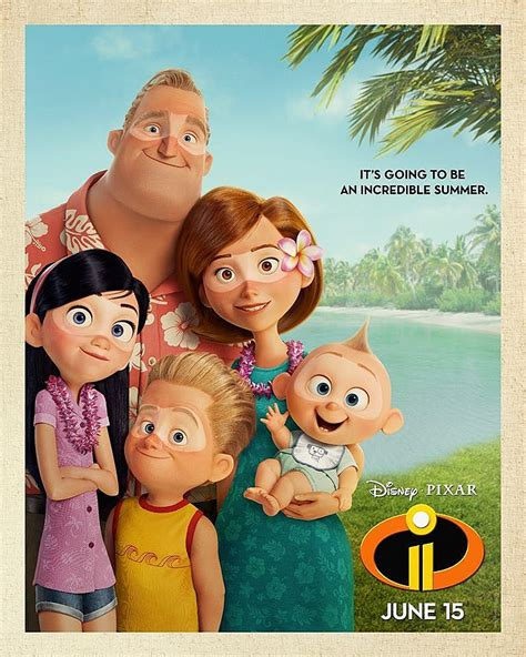 the incredibles 2 new summer poster released silver