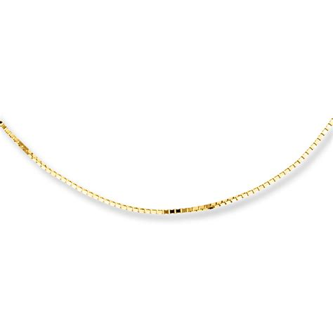 box chain necklace 10k yellow gold 22 quot length