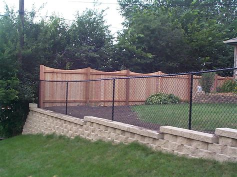 Cover Chain Link Fence With Wood Best Idea Garden