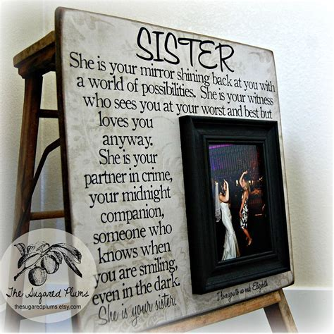 Sister Picture Frame, Personalized Bridesmaid Gift, Best