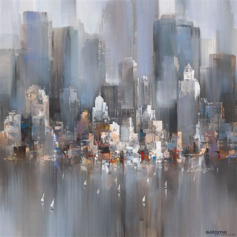 Painting In Nyc by Artwork Manhattan Sailing 0027 Wilfred Lang