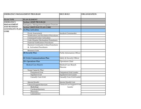 ops plan template operational plan exles pictures to pin on