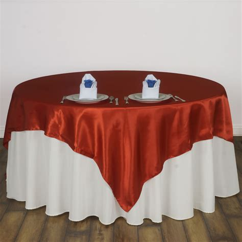 15 pcs 72x72 quot square satin table overlays wedding linens