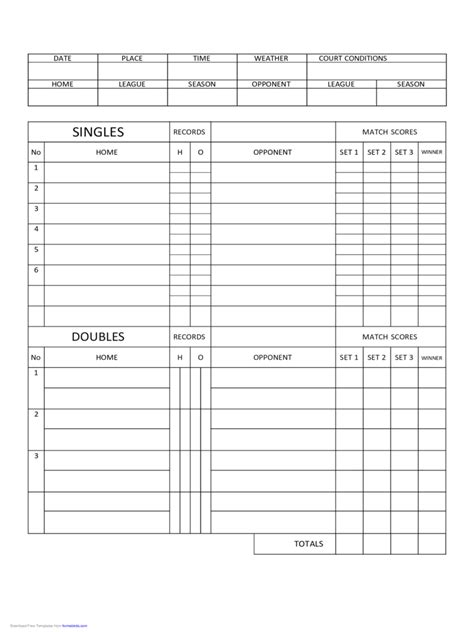Credit Scoring Template Excel Tennis Score Sheet 4 Free Templates In Pdf Word Excel
