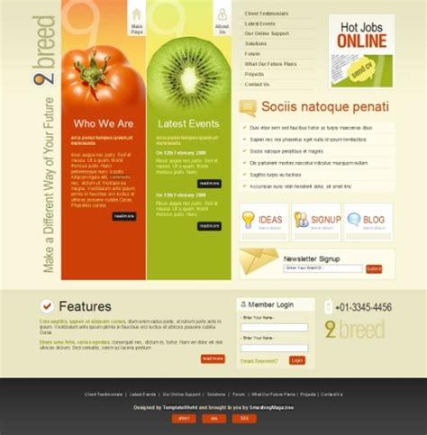 high quality free website templates 50 high quality free psd web templates