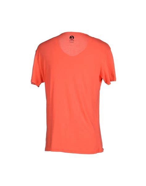 coral color shirt jcolor t shirt in orange for coral lyst