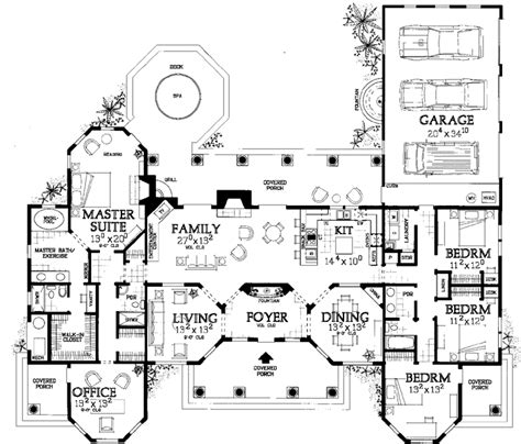 house plans with big bedrooms florida style house plans 2831 square foot home 1
