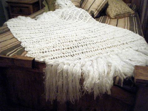 white home decor fringe blanket white throw by cricketshome