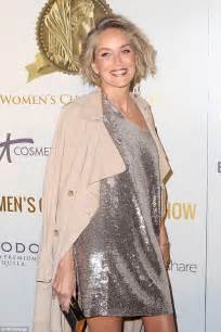 pictures of 59 year old plan womem sharon stone 59 breaks down in tears at women s awards