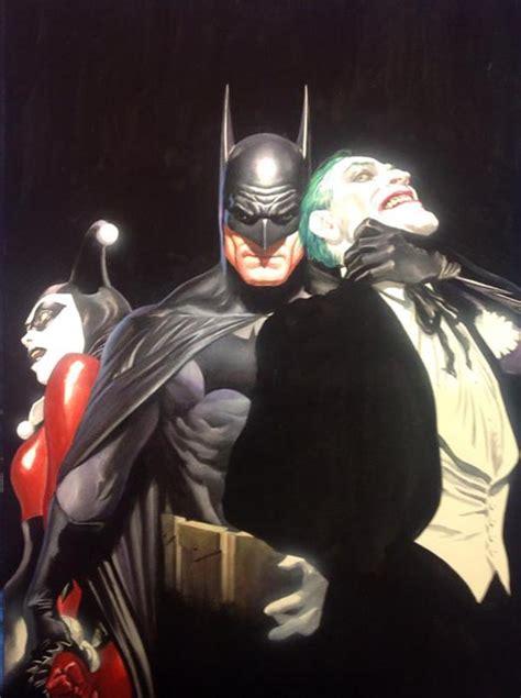 imagenes batman y joker espectacular dibujo de alex ross exclusivo de la sdcc 2015