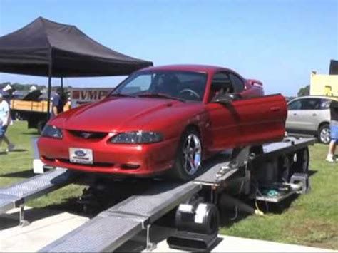 95 mustang gt hp 1995 mustang gt dyno pull