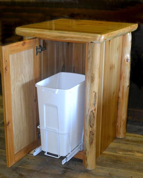 trash can inside cabinet manicinthecity