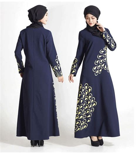 Grosir Baju Dress Turkey 16 malaysia muslim dress abaya turkey islamic feather print dresses pictures jilbab clothes