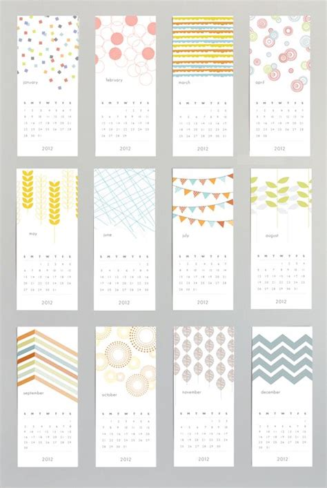 calendar design diy patterned wall calendar graphics design we love