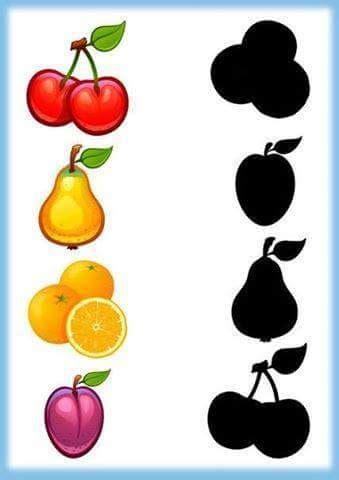fruits shadow matching (1) « Preschool and Homeschool