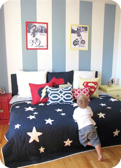 boys blue and red bedroom my house of giggles a red yellow and blue striped shared