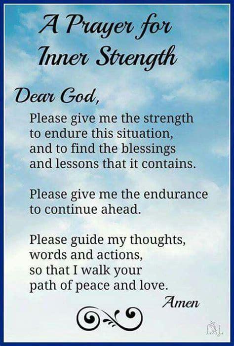 Strength To Strength a prayer for inner strength quotes prayers faith god