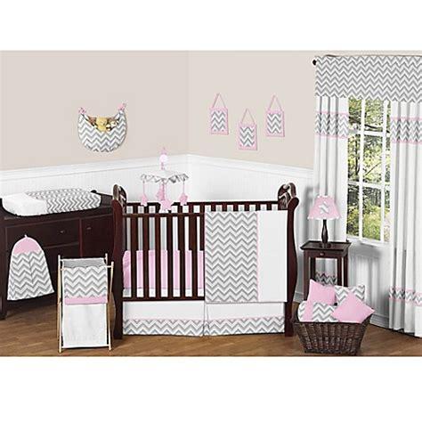 Sweet Jojo Designs Crib Bedding Set Sweet Jojo Designs Zigzag Crib Bedding Collection In Pink Grey Buybuy Baby