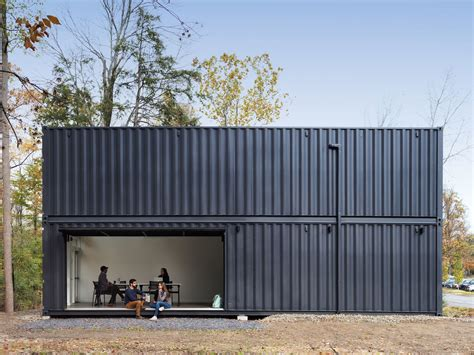 shipping container prefab lab  built    hours