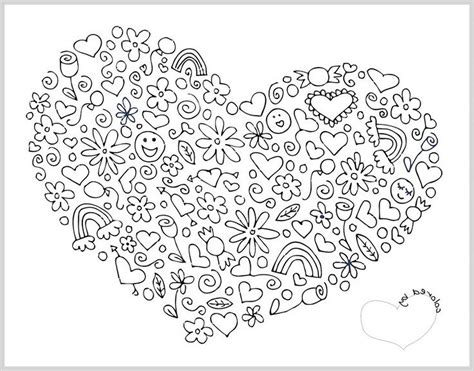 Valentines Day Coloring Pages Hard | difficult mandala coloring pages notesfromtheorchard