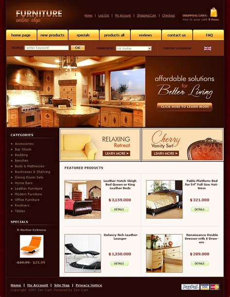 home design website templates free download furniture zencart template web design templates website