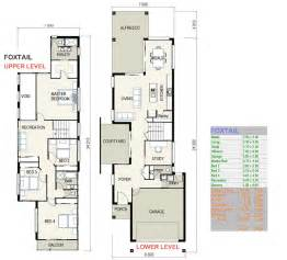 narrow house plan foxtail small lot house plans free custom home design