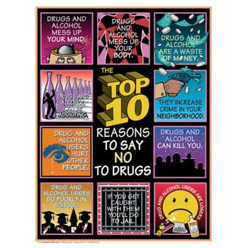 8 Reasons To Say No To Drugs by The Bureau For At Risk Youth Format Posters Top