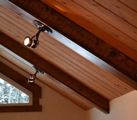 lights in ceiling beams how freakin cool ana white of course faux wood beams
