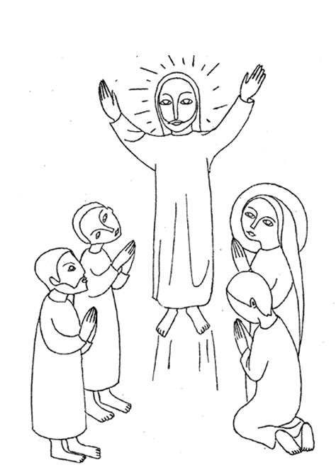 coloring page for jesus ascension jesus ascension coloring pages
