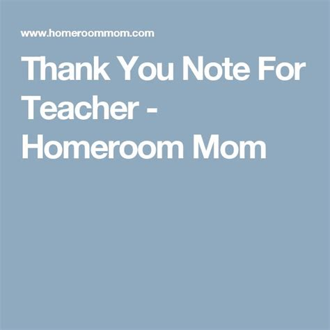 thank you letter to parents from room thank you note for homeroom room parent
